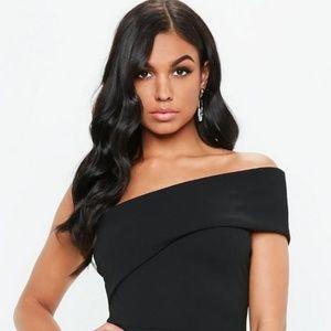 Missguided One-Shoulder Bardot Dress